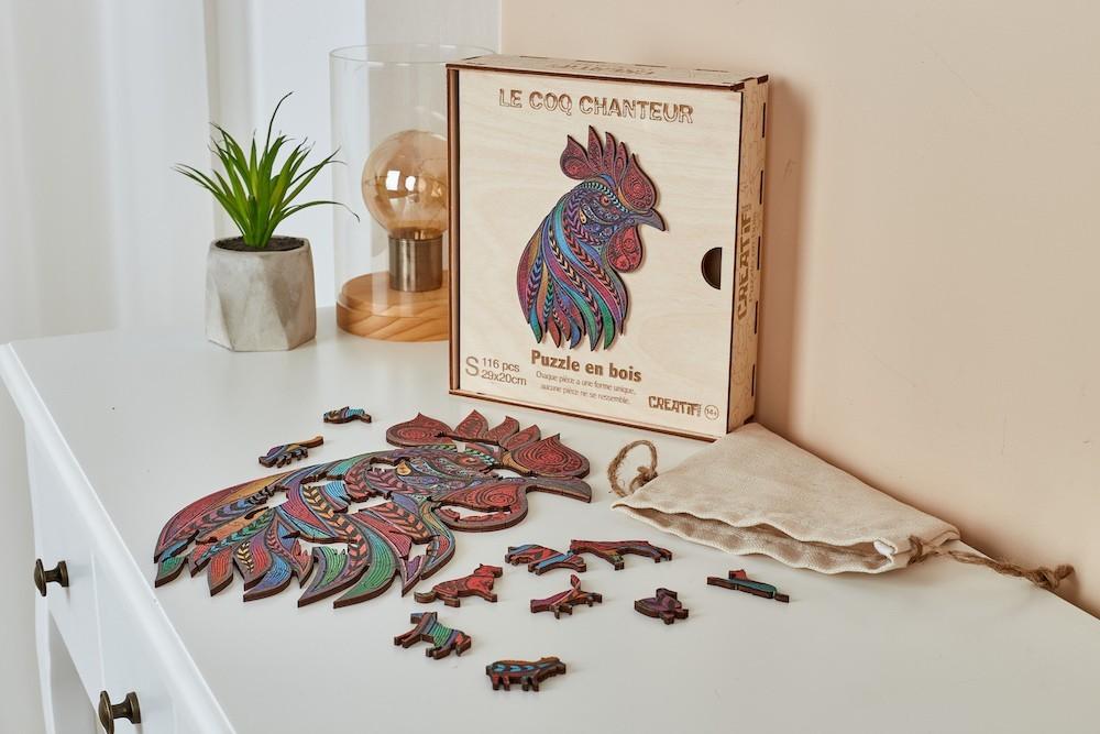 Coq-Chanteur-Puzzle-en-bois