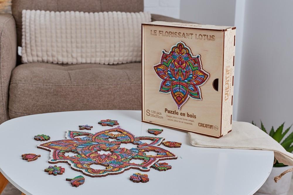 Florissant-Lotus-Puzzle-en-Bois