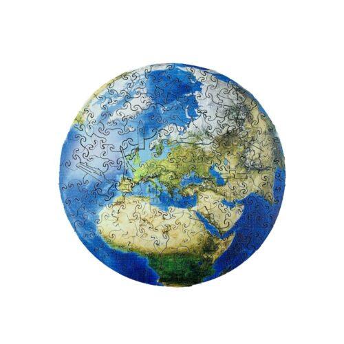 Planète Terra Puzzle en Bois