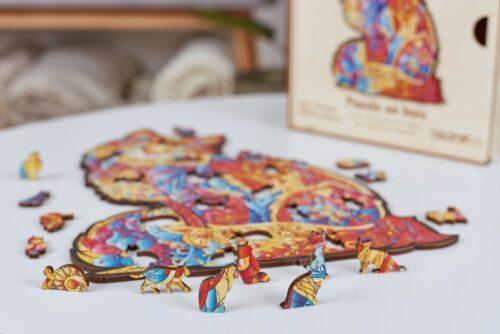 Tendre Chat Puzzle en bois 4