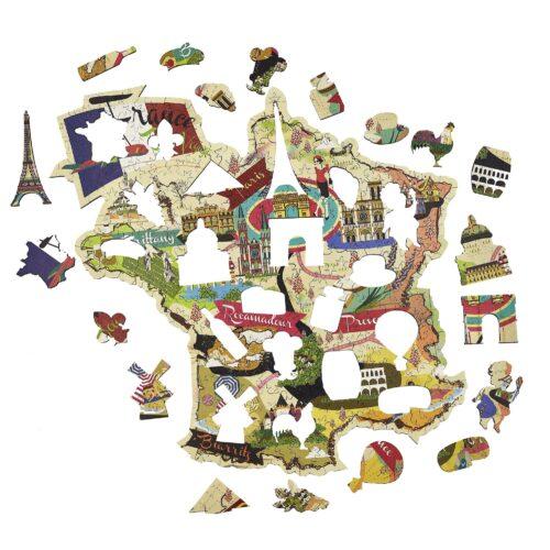 La France Découverte Puzzle en bois