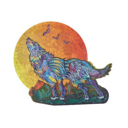 Le Loup Hurleur Puzzle en bois