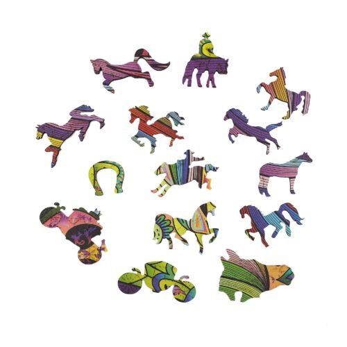 Le Cheval Fougueux Puzzle en bois