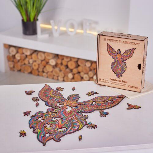 Le Phénix Flamboyant Puzzle en bois